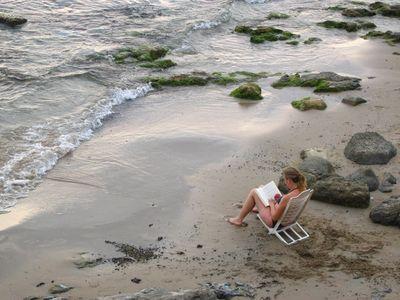Sitting on a Beach